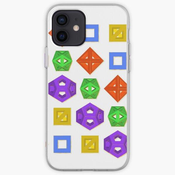 GMTRX lawal skeletal platonic solids v1 matrix  iPhone Soft Case
