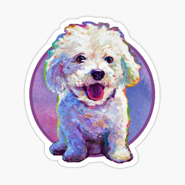 Cute BICHON FRISE STICKER by Robert Phelps  Sticker