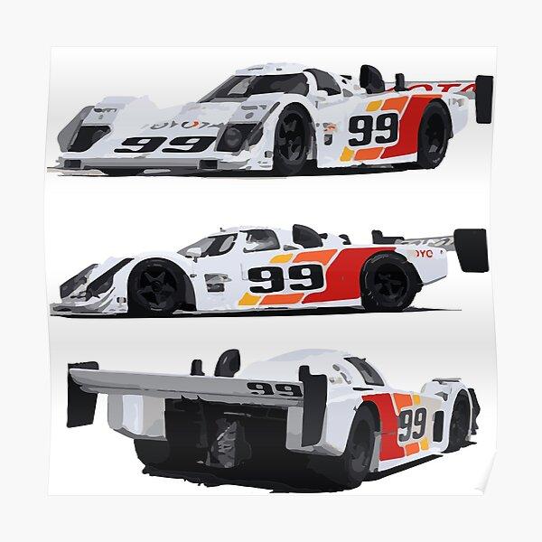 1990 Toyota Eagle IMSA GTP Race Car Poster