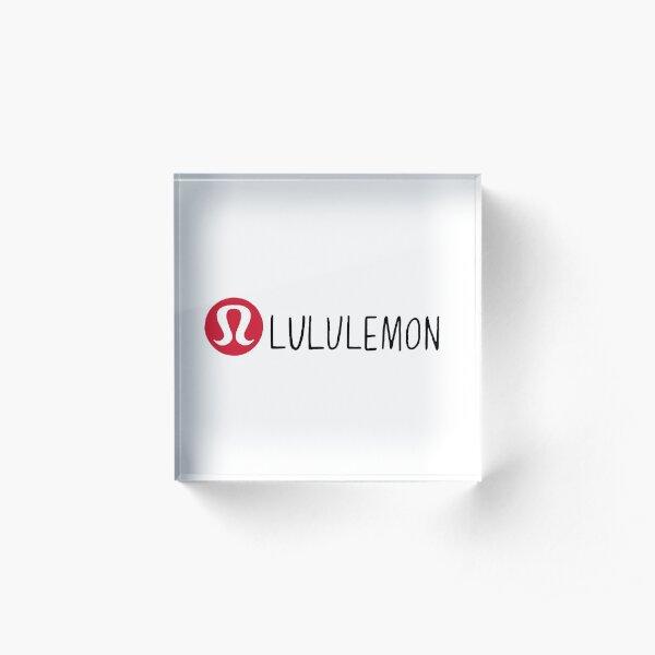 lululemon hand drawn logo Acrylic Block