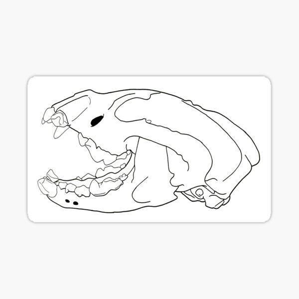 Wolverine Skull transparent drawing line-art Sticker