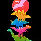 Colourful dinosaurs by freeminds