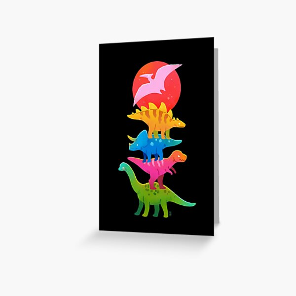 Colourful dinosaurs Greeting Card