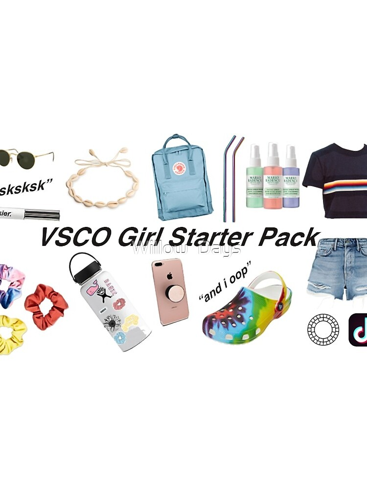 vsco girl starter pack, vsco girl packs by avit1