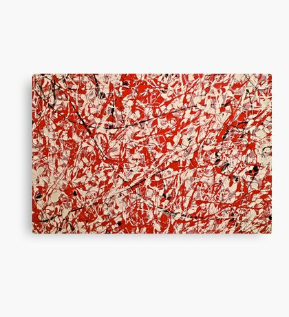 Mostly Red Abstract Canvas Print