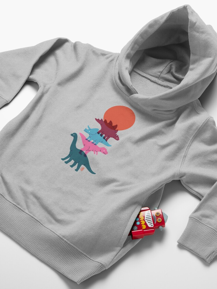 Alternate view of Colourful dinosaurs 2 Toddler Pullover Hoodie