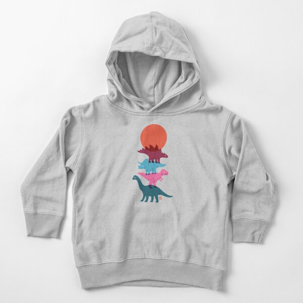 Colourful dinosaurs 2 Toddler Pullover Hoodie