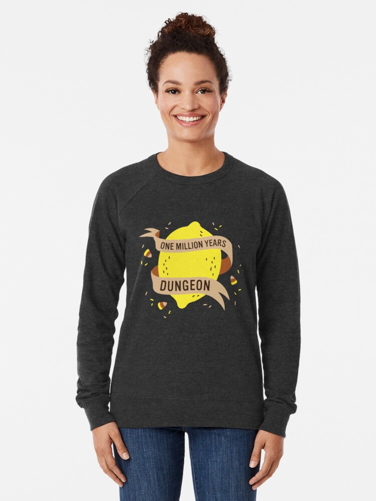 Alternate view of One Million Years Dungeon Lightweight Sweatshirt