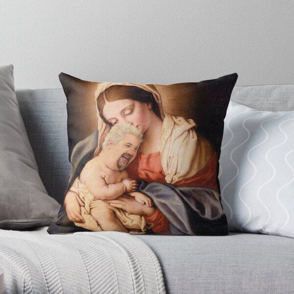 Guy Fieri Baby Jesus Throw Pillow