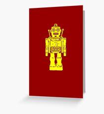 Retro robot geek funny nerd Greeting Card