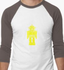 Retro robot geek funny nerd Men's Baseball ¾ T-Shirt