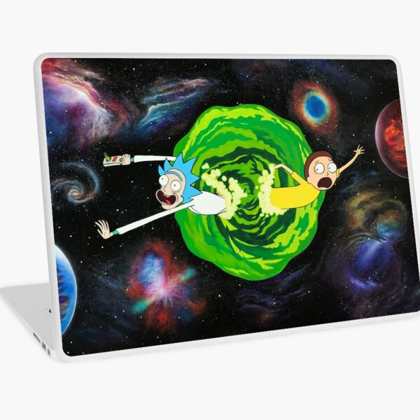 Rick and Morty Galaxy Laptop Skin