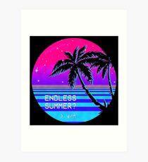 Endless Summer (Vaporwave) Art Print