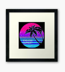 Endless Summer (Vaporwave) Framed Print