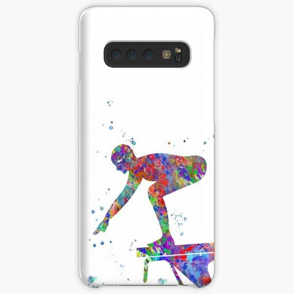 Swimmer, athlete, female swimmer Samsung Galaxy Snap Case