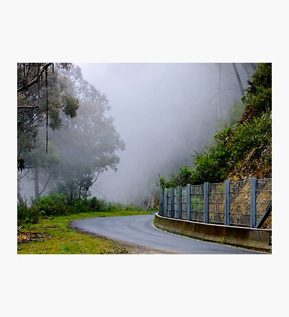 Misty Mountain Pass - Thredbo, New South Wales Photographic Print