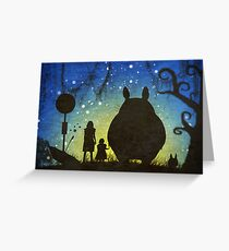 Small Spirits (Totoro) Greeting Card