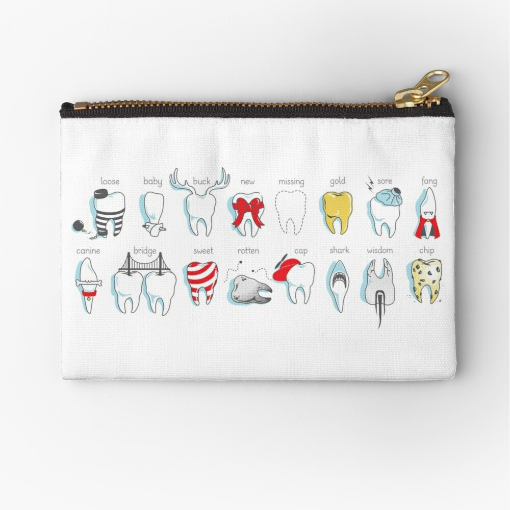 Dental Definitions Zipper Pouch