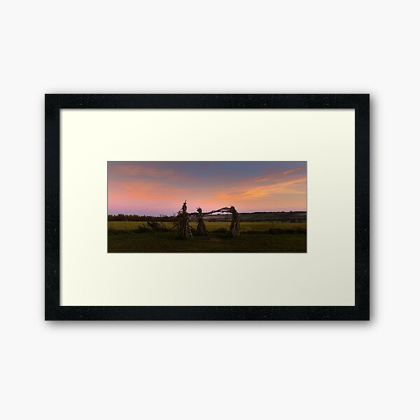 Sunset dance of the witches Framed Art Print