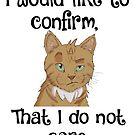 I DO NOT CARE CAT by deannamill2287