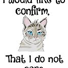 I DO NOT CARE CAT SIAMESE by deannamill2287