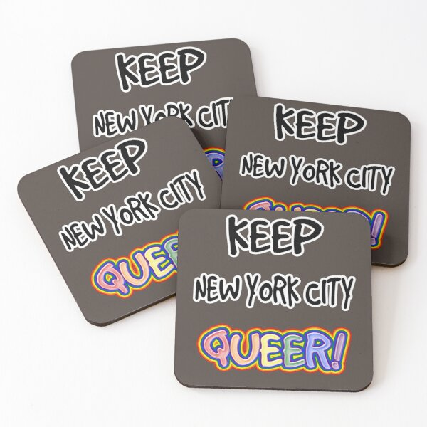 Keep New York City Queer! Coasters (Set of 4)