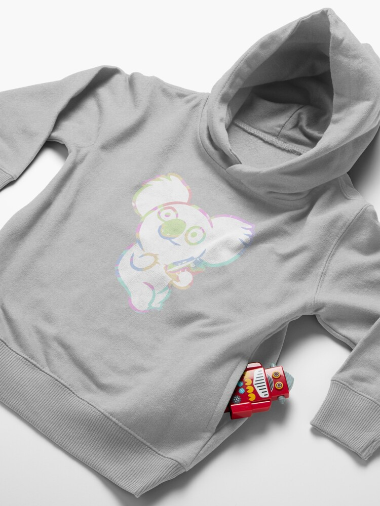 Alternate view of Nom Nom with Phone | We Bare Bears Toddler Pullover Hoodie