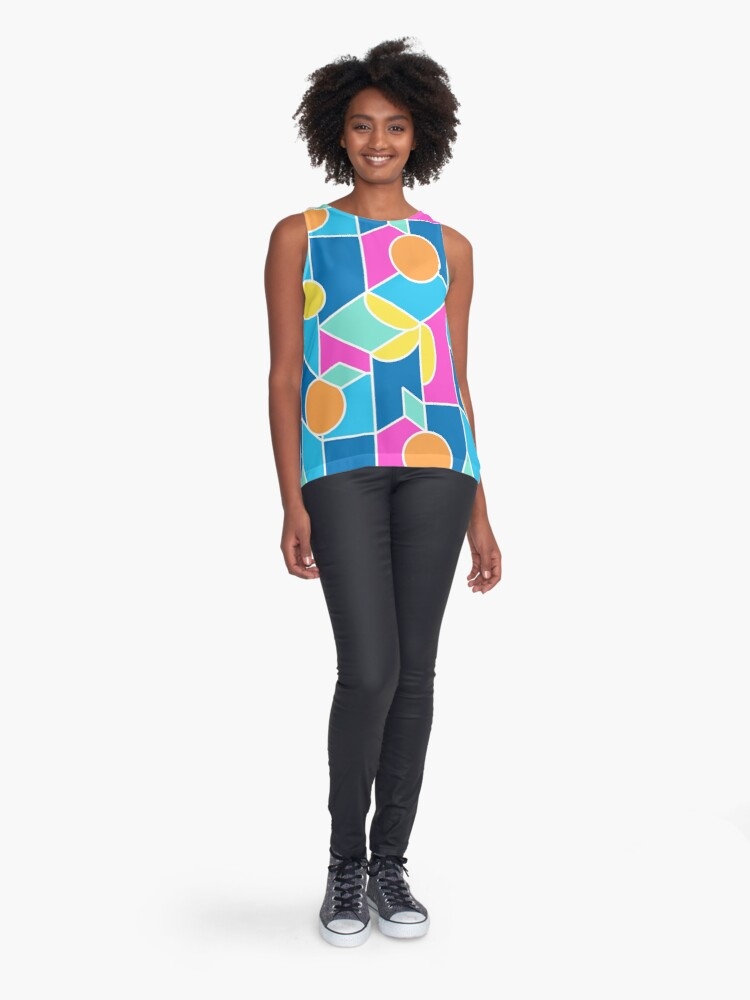 Alternate view of Color-Blocking Fruits Sleeveless Top
