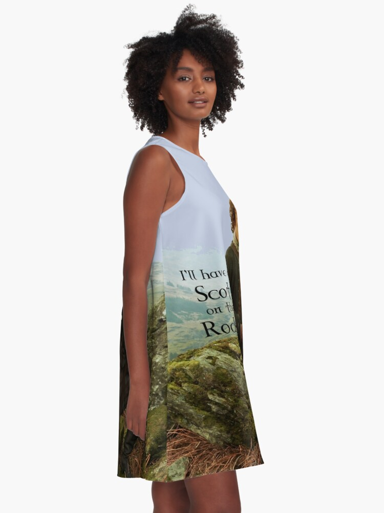 Alternate view of I'll have a Scot on the Rocks!  A-Line Dress
