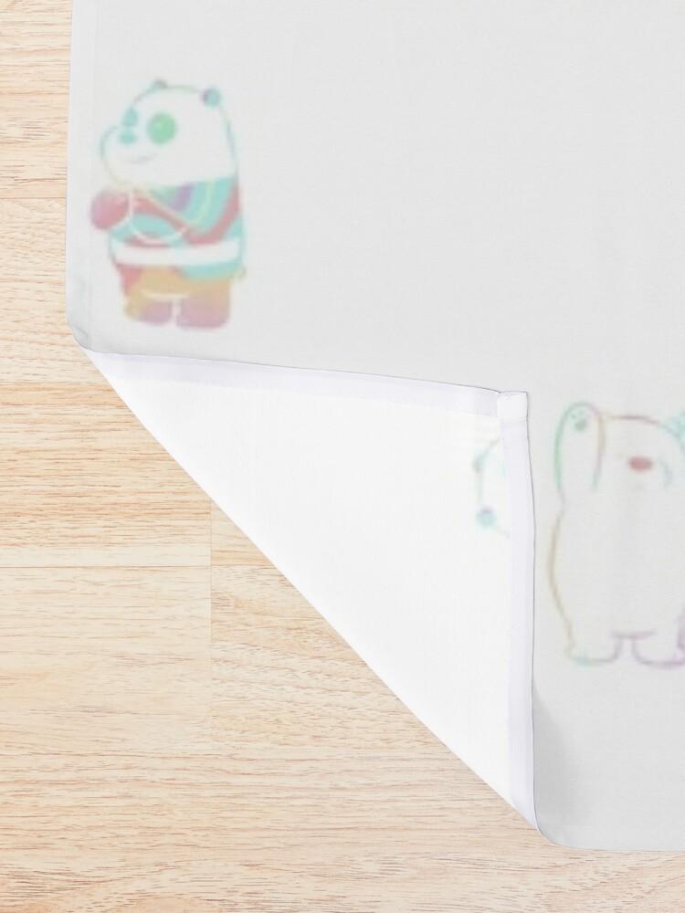 Alternate view of Baby We Bare Bears Shower Curtain