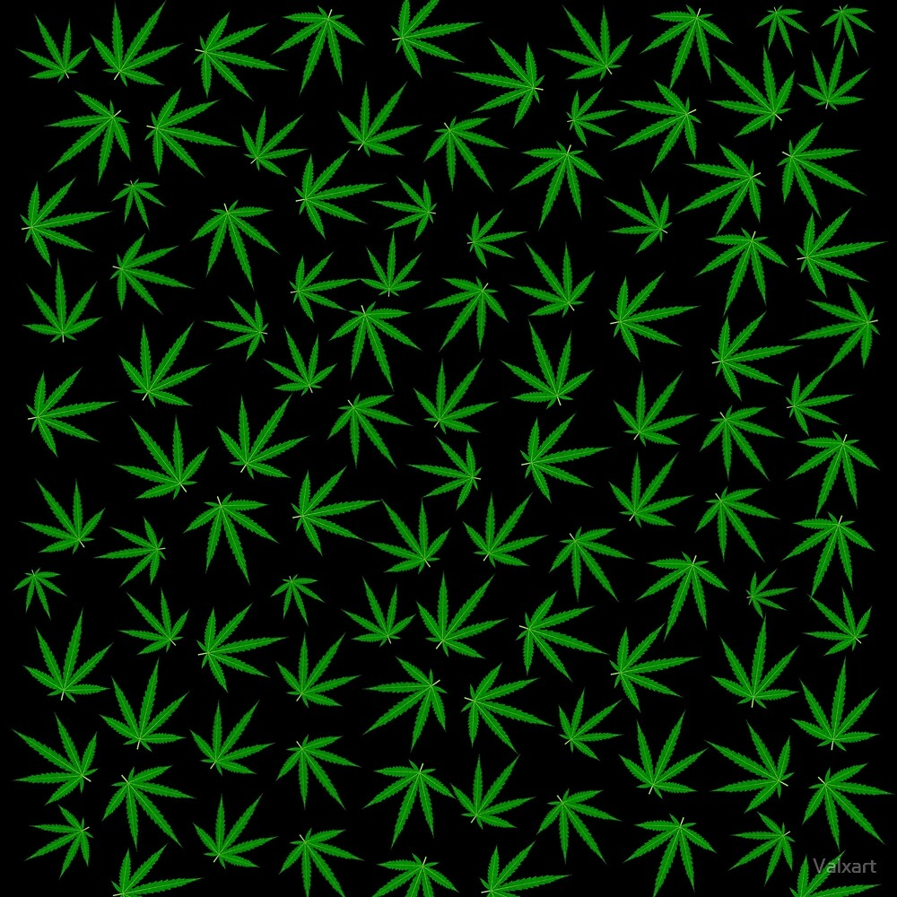 Cannabis marijuana leaf pattern by valxart redbubble for Weed leaf template