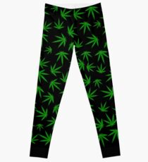 Cannabis / Marijuana Leaf Pattern Leggings