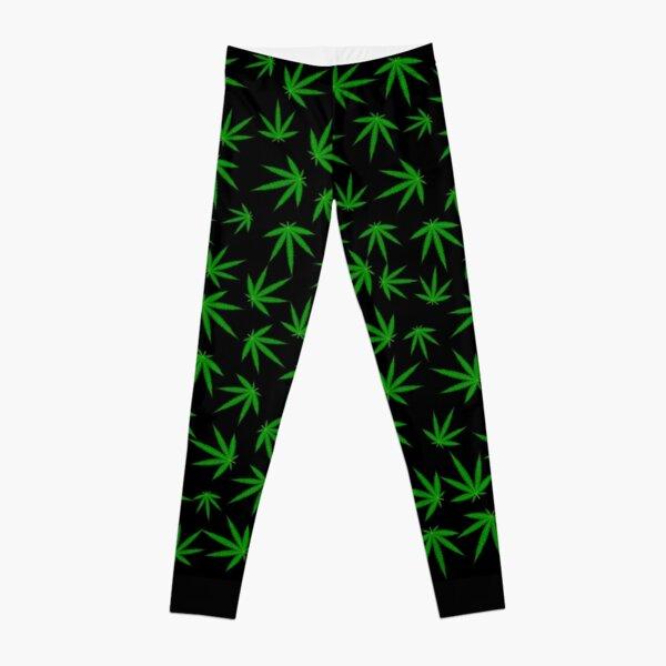 Cannabis / Marijuana Leaf Pattern Leggings
