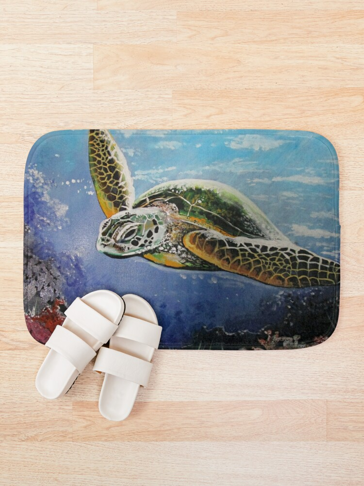 Alternate view of Sea Turtle Bath Mat