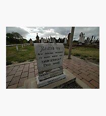 Thunderbolt's Grave, Uralla, Australia 2009 Photographic Print