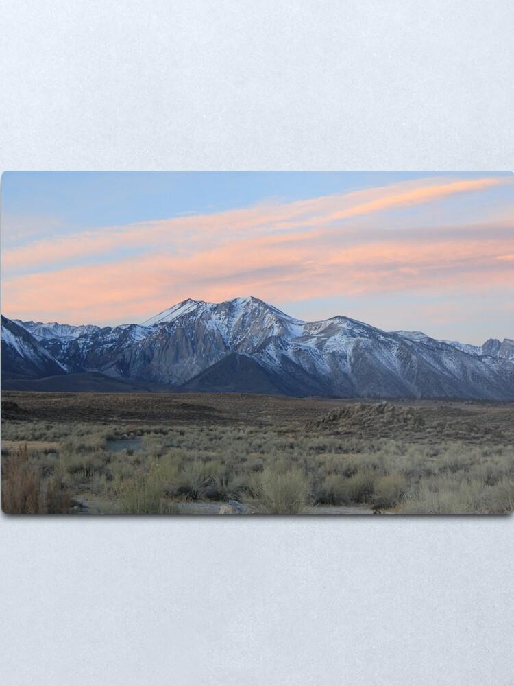 Sunrise On California S Sierra Nevada Mountains Metal Print By Pekaniapennanti Redbubble
