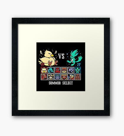 SUMMON FIGHTER Framed Print