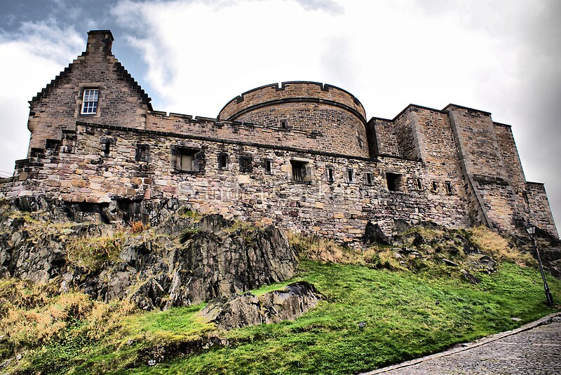 """Ramparts Inside Edinburgh Castle"" by Sandra Cockayne ..."