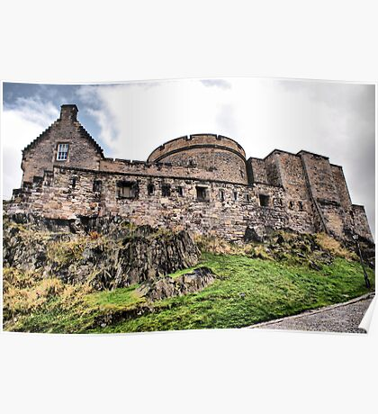 Ramparts Inside Edinburgh Castle Poster