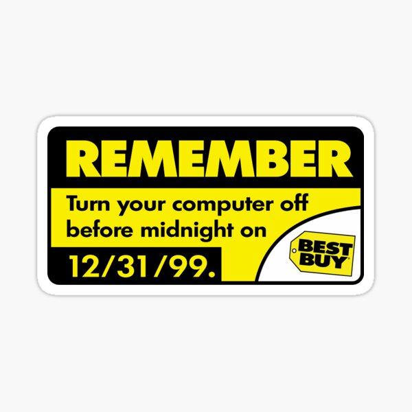 y2k best buy warning sticker Sticker