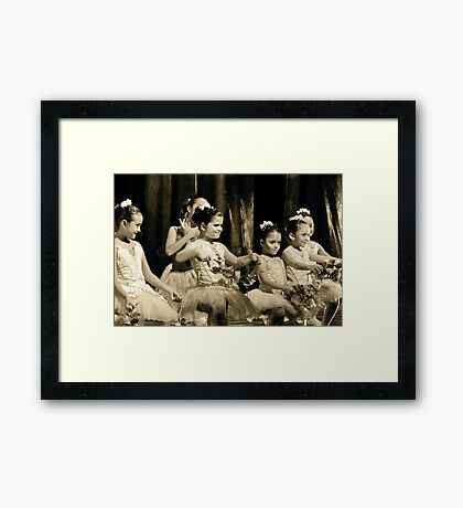 Early Joy on a Stage Framed Print