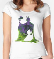 Once Upon a Dream - White Silhouette Women's Fitted Scoop T-Shirt