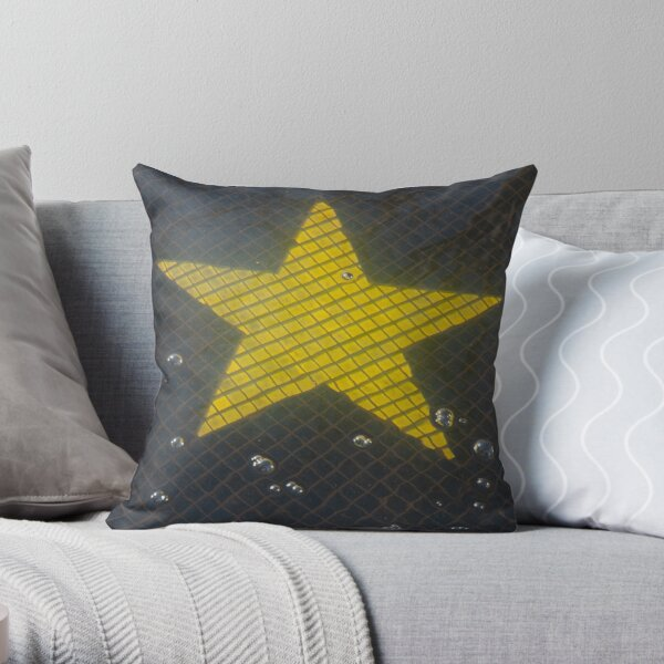 Star and Bubbles Throw Pillow