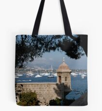 Palace Watchtower Overlooks Monte Carlo Harbor Tote Bag