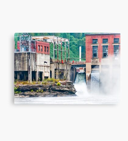 1899 Glen Ferris Hydroelectric Plant Canvas Print