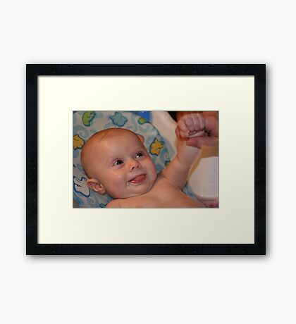 Give Me A Hand, Please! Framed Print