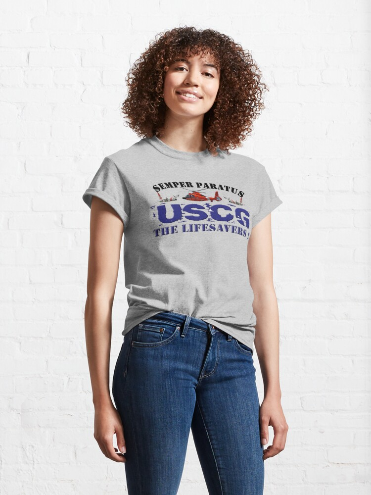 Alternate view of Semper Paratus USCG The Life Savers! Classic T-Shirt
