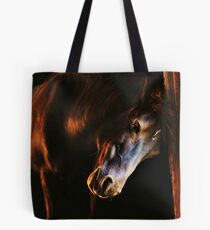 Sunset in the stables Tote Bag