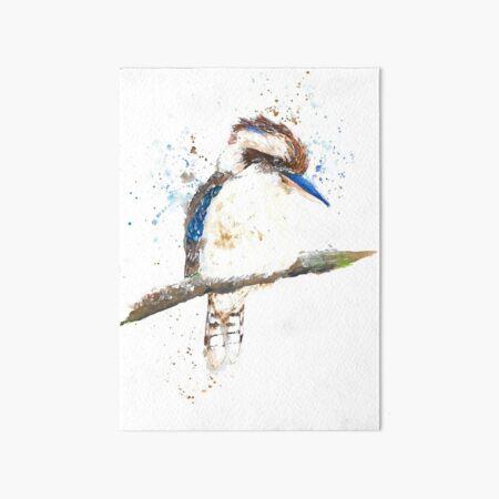 Watercolour Kookaburra Art Board Print
