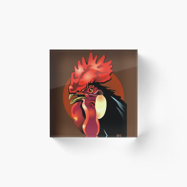 Andalusian Rooster 1 Acrylic Block